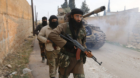 FILE PHOTO: Fighters from Islamist Syrian rebel group Jabhat al-Nusra. © Hosam Katan
