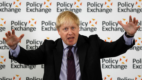 Britain's Foreign Secretary Boris Johnson delivers a speech on Brexit at the Policy Exchange in central London, Britain February 14, 2018. © Peter Nicholls