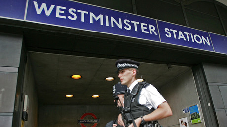 Man found dead outside Westminster Tube Station © Reuters/ Toby Melville