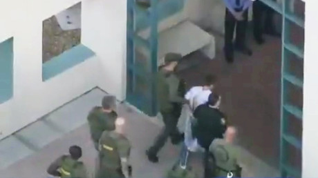 Florida school shooting suspect Nikolas Cruz arrives at Broward County jail (VIDEO)