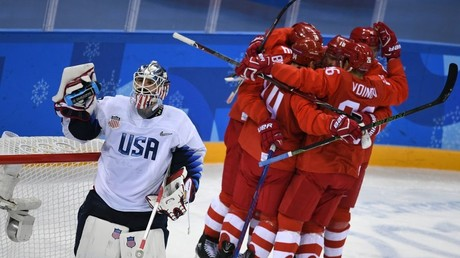Russian men's hockey squad trounces US 4-0 in Pyeongchang