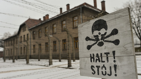 A view of 'Halt!' sign near the entrence gate to the former Auschwitz 1 camp. Oswiecim, Poland  © Artur Widak / Global Look Press