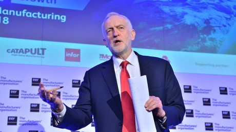 February 20, 2018 - London, London, UK . Labour party leader JEREMY CORBYN MP.. makes a speech at the EEF National Manufacturing Conference 2018