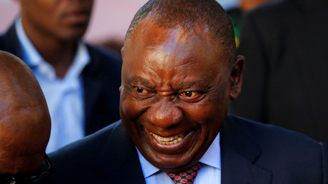 South African President Cyril Ramaphosa © Mike Hutchings