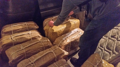 The cocaine that has been found in the Russian embassy in Buenos Aires, Argentina, appears in this undated handout photo provided on February 22, 2018. © Argentine Ministry of Security