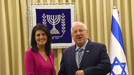 Nikki Haley, U.S. ambassador to the United Nations and Israeli President Reuven Rivlin. © Debbie Hill