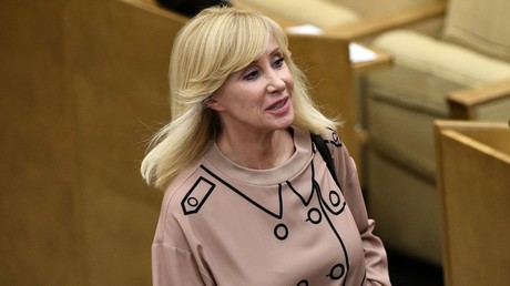 Oksana Pushkina, Deputy Chairperson of the Committee on Issues of Family, Women and Children, at a State Duma plenary session © Maksim Blinov