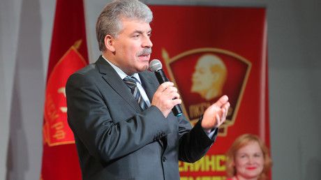 Presidential candidate from the Communist party Pavel Grudinin © Vitaliy Belousov
