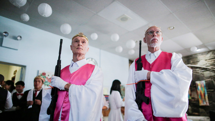 Rifle-toting couples blessed in bizarre church ceremony (PHOTOS)