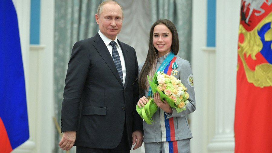 'I'd give Putin skating masterclass!' Golden girl Zagitova ready to coach Russian president