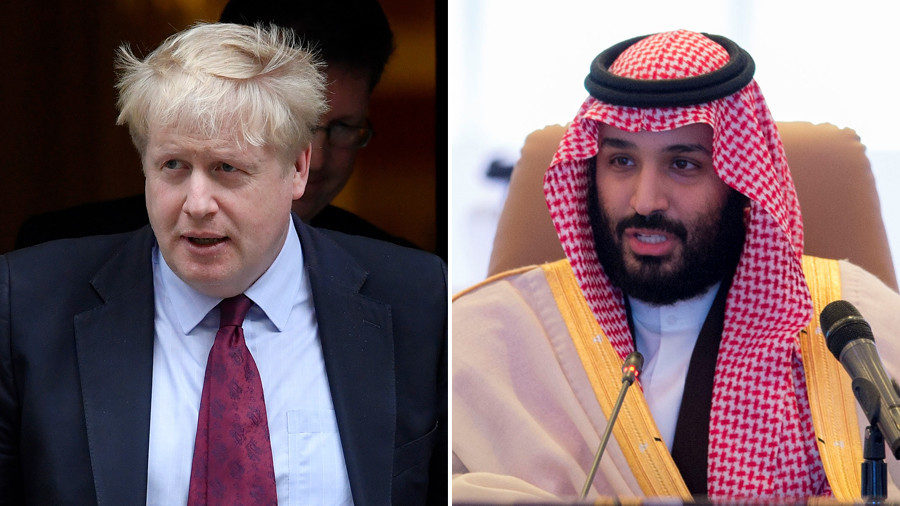 Boris Johnson throws support behind Saudi prince accused of Yemen human rights abuses