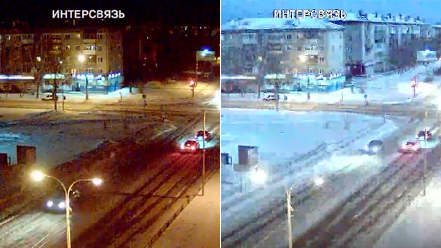 Night turned into day: Dazzling 'meteor' blazes across sky in Russian Urals (VIDEOS)