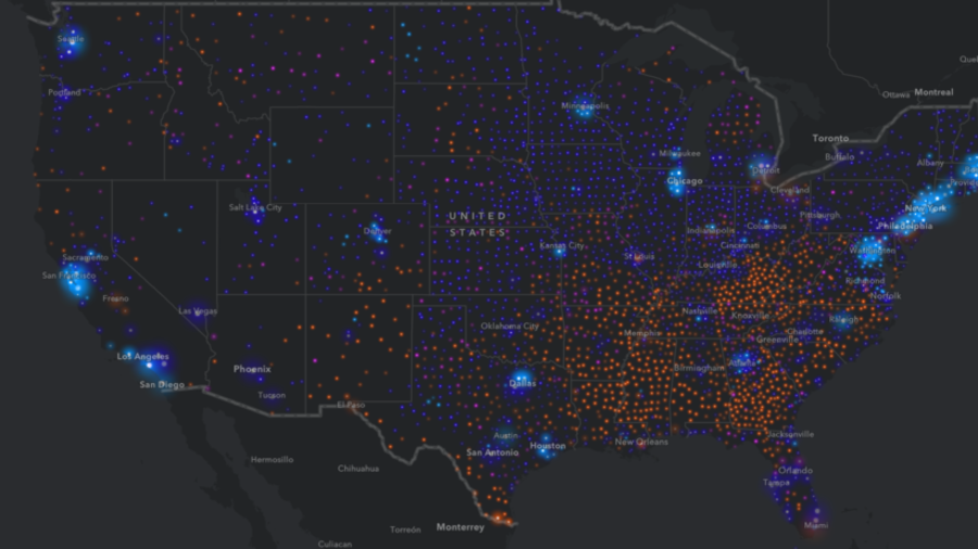 From New York To Los Angeles Interactive Map Breaks Down US - Us mal