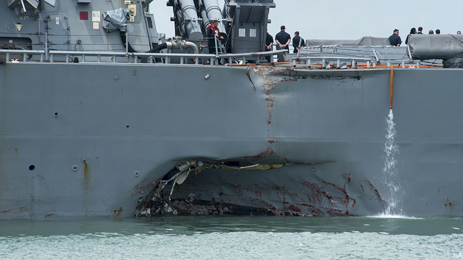 USS John S. McCain Fatal Collision Blamed on 'Sudden Turn'