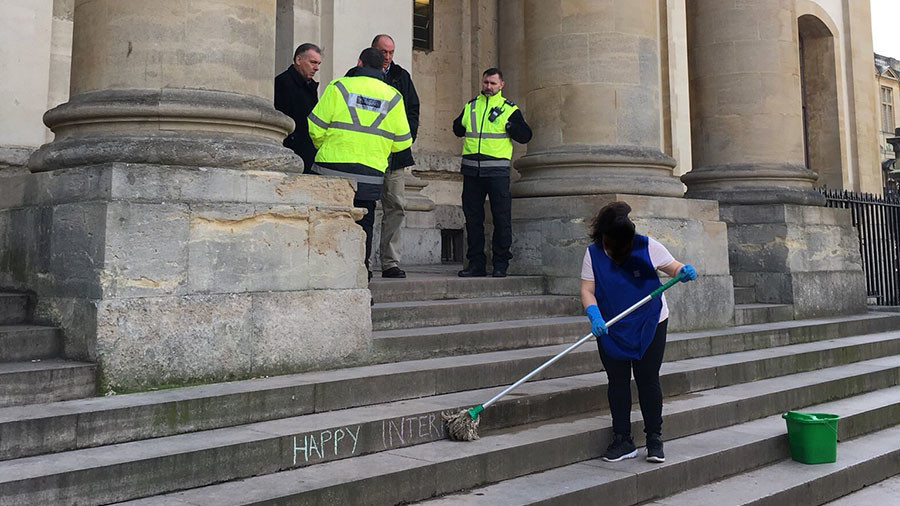 Oxford Uni apologizes for ordering cleaner to remove 'Happy Women's Day' graffiti