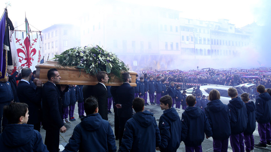 Florence turns purple as Italy mourns death of Azzurri star Davide Astori