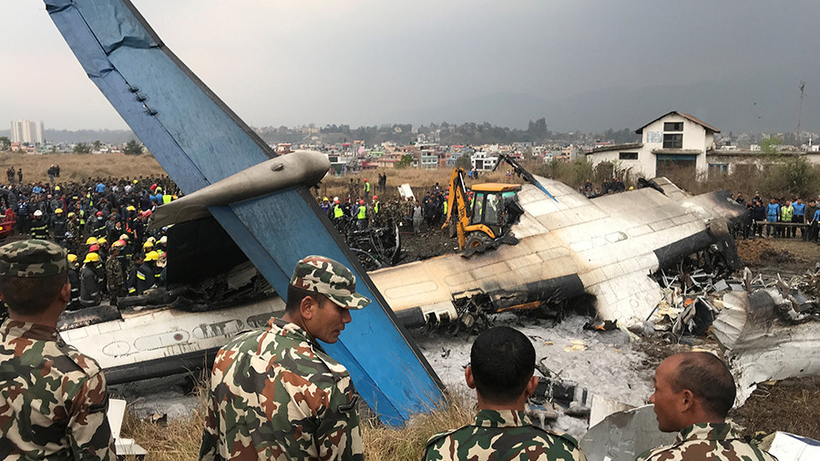 Dozens dead after plane with 71 on board crashes at airport in Kathmandu, Nepal (PHOTO, VIDEO)