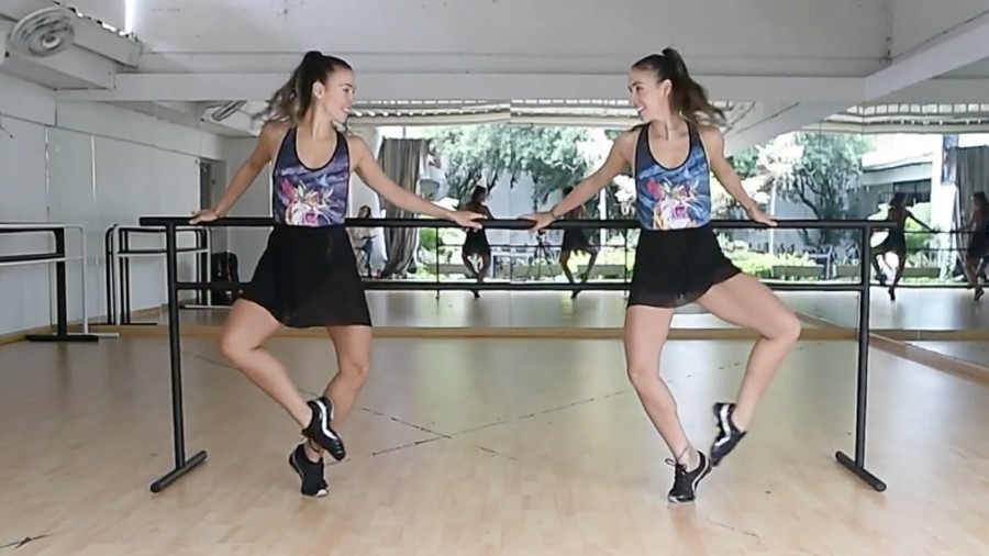 Tutu Twerk Twins Colombian Ballet Dancing Sisters Conquer -8559