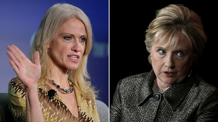'Stop pretending you're a feminist' – White House's Conway berates Clinton