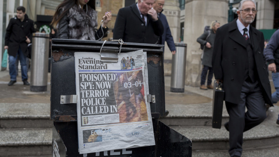 'Poison storm, gas cuts & Cold War II': How MSM lost the plot over Salisbury attack