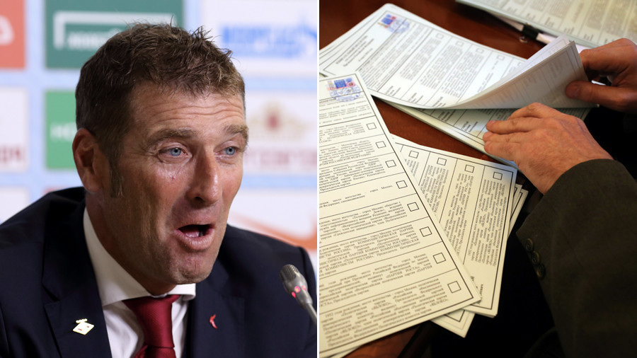 Spartak Moscow fans vote for manager Carrera in Russian presidential election