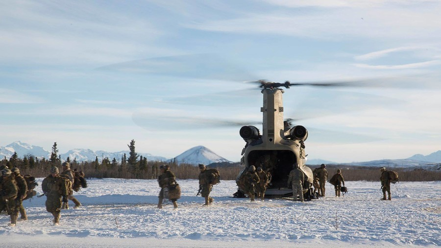 US stages Alaska drills 'to fight & win Arctic' in face of Russian dominance (VIDEOS, PHOTOS)