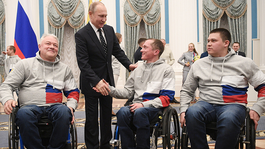 'We admire you': Putin gives state honors to Paralympic medalists in Kremlin