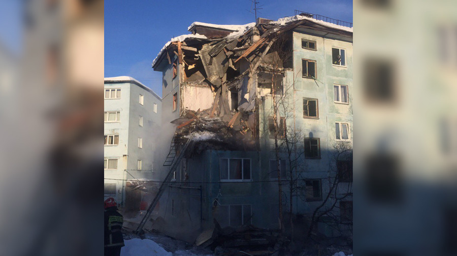 At least 2 dead in gas blast & partial building collapse in Russia (VIDEOS)