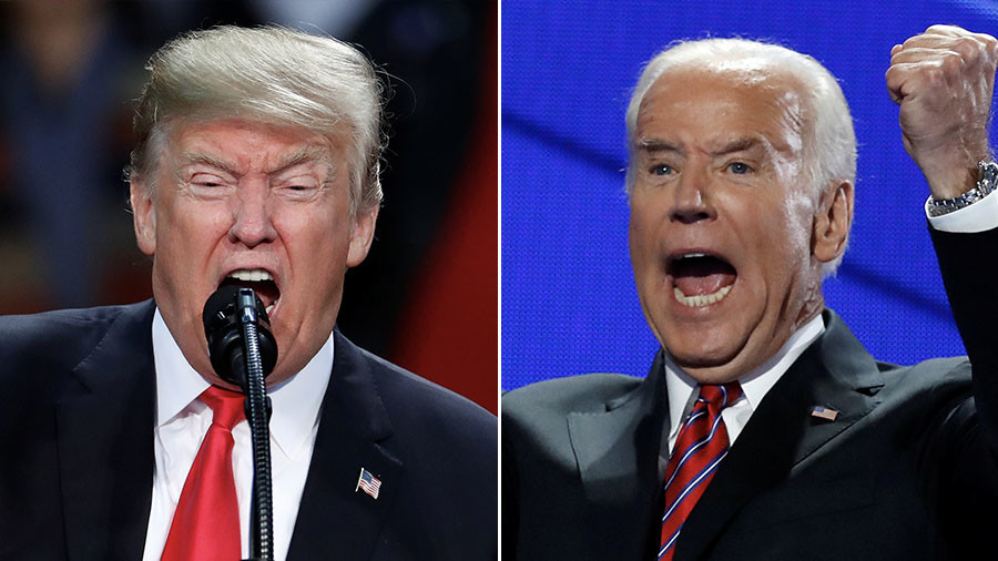 Trump & Biden trade insults but who would win in a real fight? (POLL)