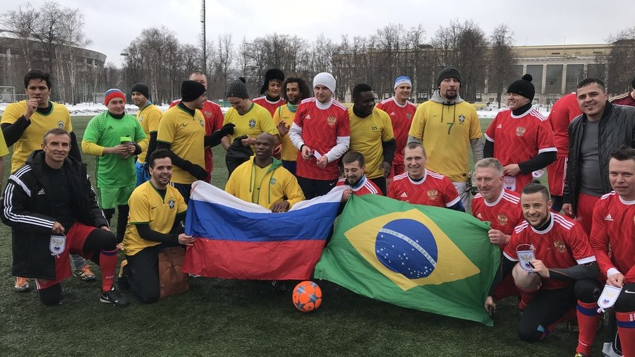 Samba in the snow: Russia beat Brazil 6-0...in fan friendly game before Moscow international