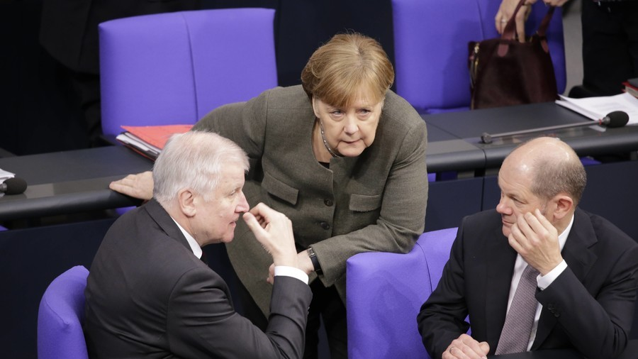an intense discussion in the Bundestag