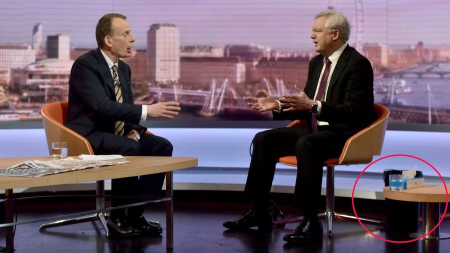 'Vomiting' David Davis soldiers on through violent illness to talk Brexit… on live TV