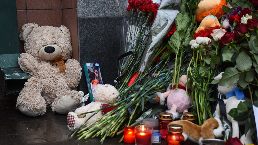 Putin declares March 28 a day of mourning for Kemerovo shopping mall fire victims
