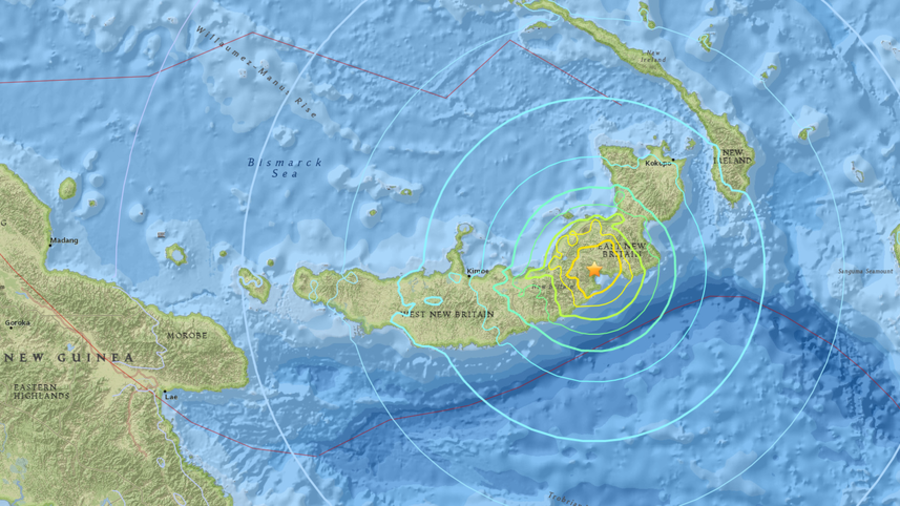 Magnitude 6.9 quake in Papua New Guinea triggers tsunami threat message