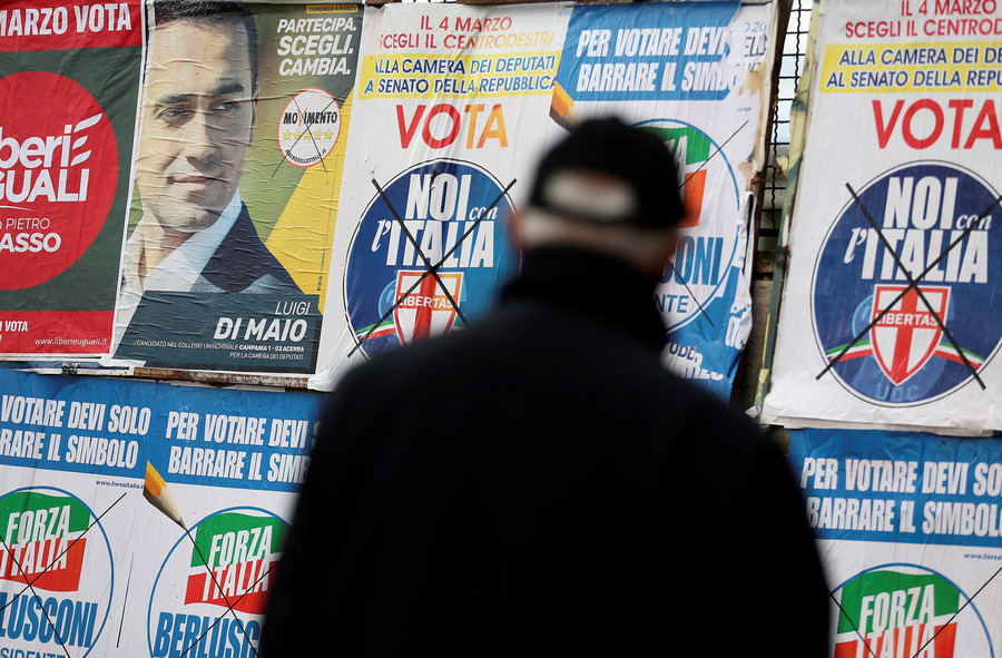 Anti-establishment Euroskeptics surge in Italian election, centrist parties shrink – projections