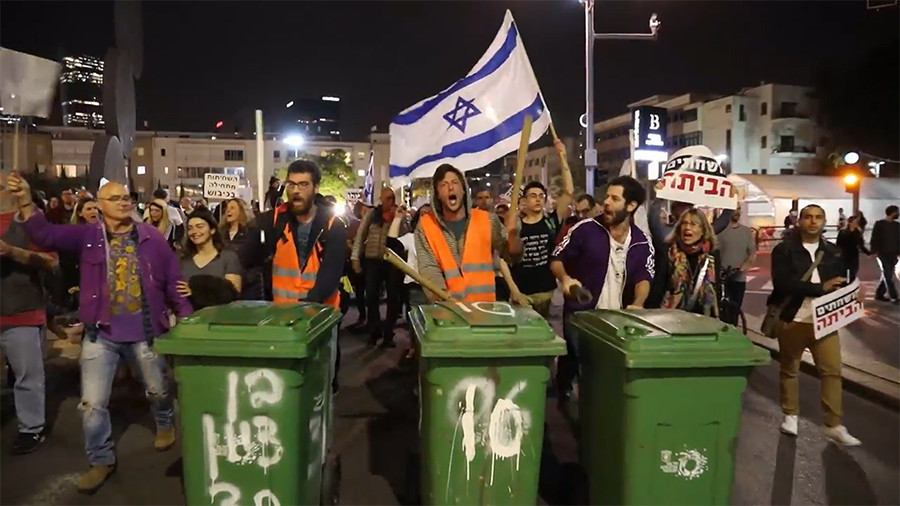 'Netanyahu is a disaster': Protesters demand embattled Israeli PM's resignation (VIDEO)