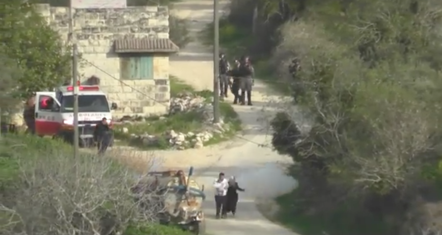 Israeli border officer throws stun grenade at West Bank couple & baby (VIDEO)