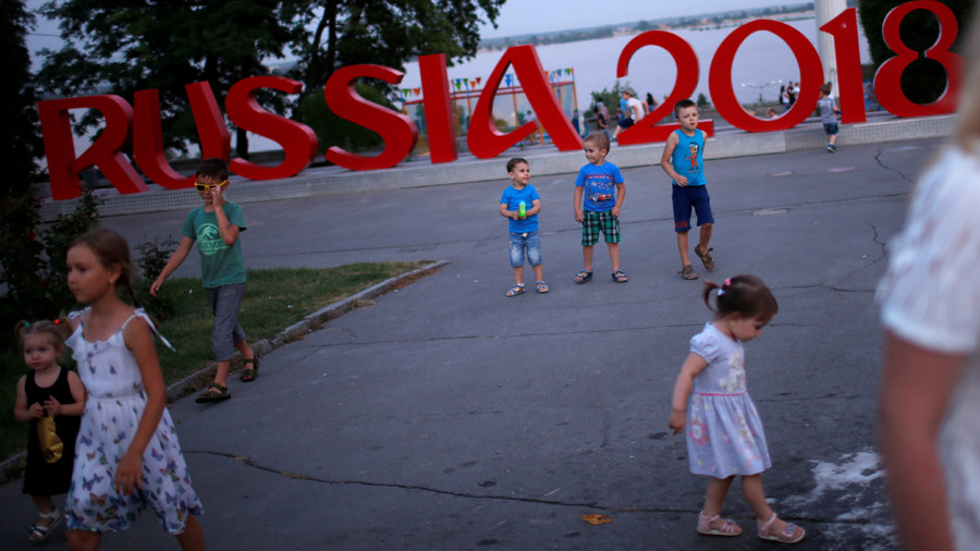 Russian international footballers grant dream gifts to young disabled fans
