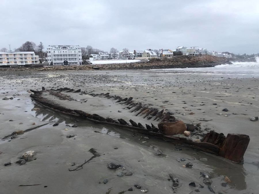 Powerful 'bomb cyclone' uncovers wreck of 18th century ship