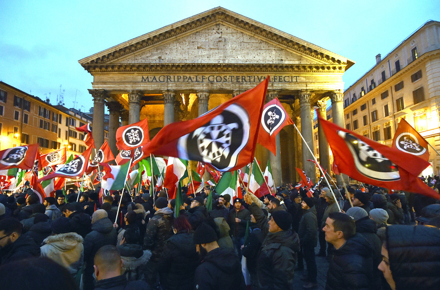 Neo-fascist group's HQ bombed in Italy