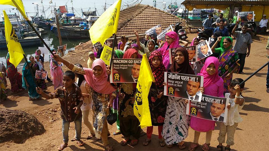 'Macron go back!' Protesters rally against French-designed nuclear plant in India (VIDEO)