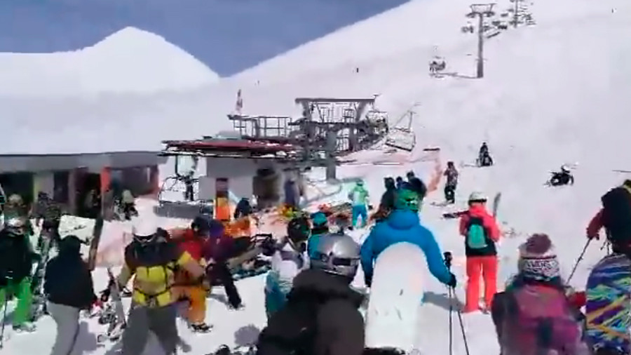 Shocking VIDEO captures horror at Georgian ski resort as chair lift speeds out of control