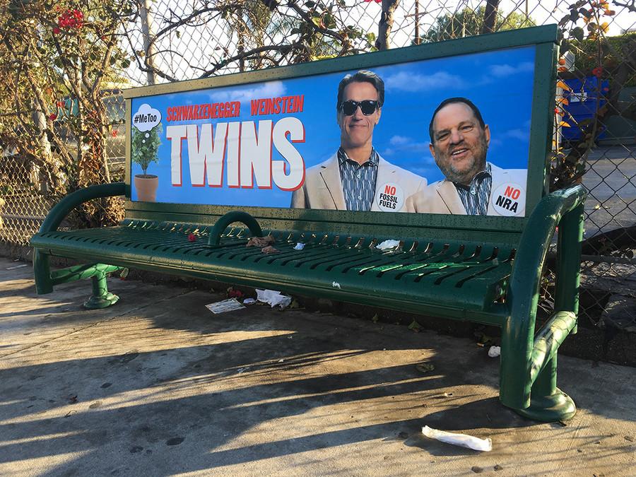 Schwarzenegger, Weinstein and #MeToo mocked in 'Twins' street art (PHOTOS)