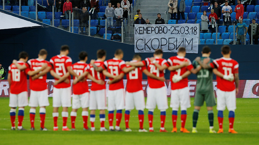 Remembered: Football friendlies commemorate Kemerovo, terrorism victims and fallen stars