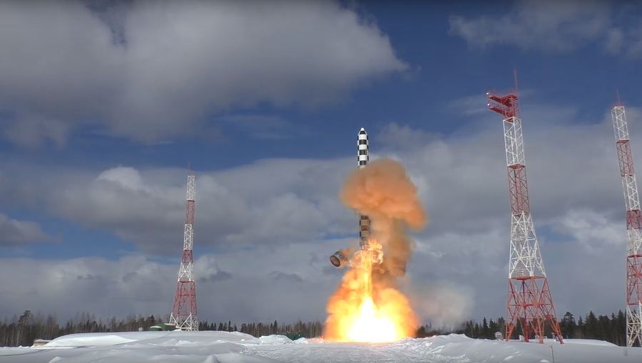 Russia's new heavy ICBM undergoes 2nd launch test (VIDEO)