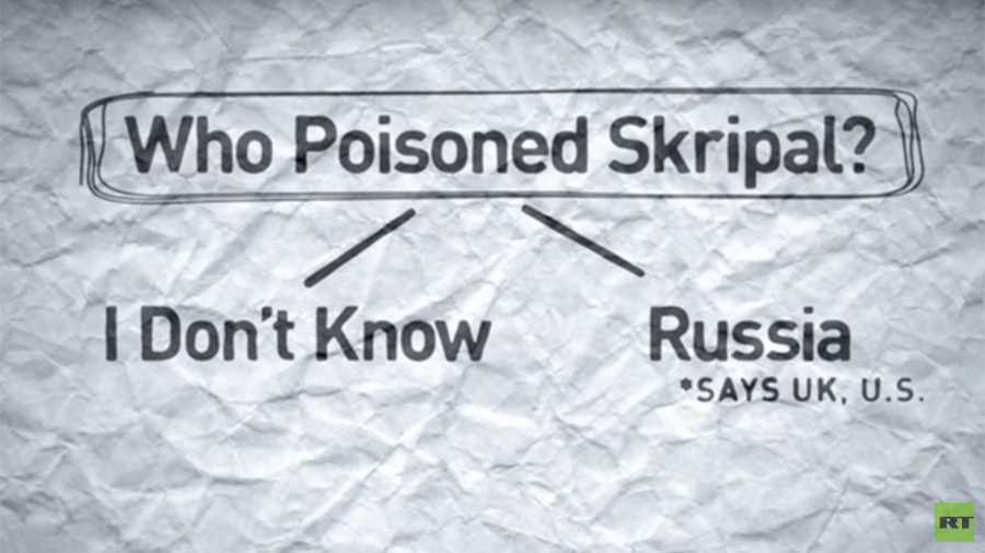 Skripal case: How UK 'explains' why Russia is to blame in 1-minute VIDEO