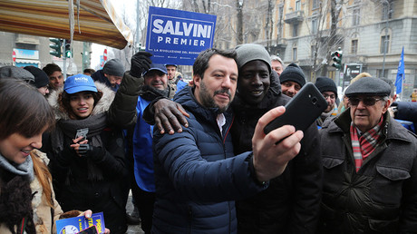FILE PHOTO: Election campaign of the Northern League leader Matteo Salvini (C). Italy, Milan © Alberico / Fotogramma / Ropi / Global Look Press