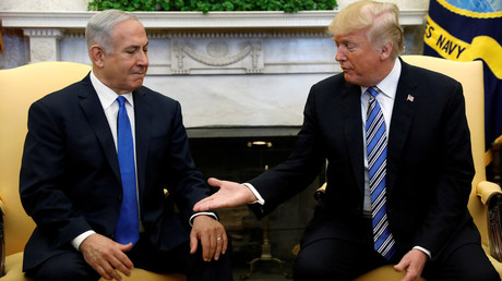 US President Donald Trump meets with Israel Prime Minister Benjamin Netanyahu in Washington, March 5, 2018. © Kevin Lamarque