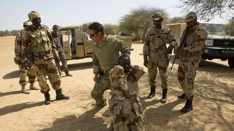 US Special Forces train Nigerien troops, March 2014 © Joe Penney