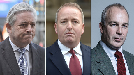 John Bercow, Speaker of the House of Commons (L), Mark Pritchard, conservative MP (C), Paul Farrelly, Labour Party politician and journalist (R). © Reuters / Global Look Press / parliament.uk